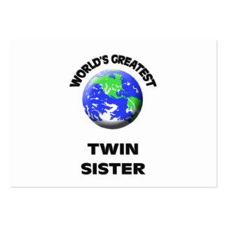 A grande irmã gêmea do mundo modelos cartão de visita