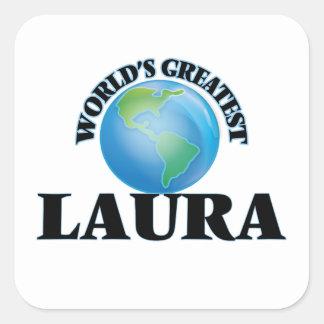 A grande Laura do mundo Adesivo Quadrado