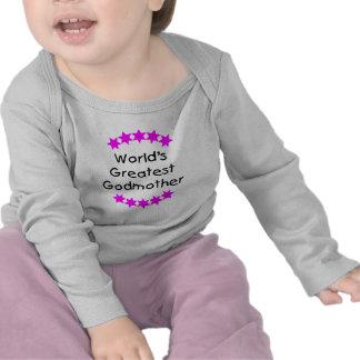 A grande madrinha do mundo (estrelas cor-de-rosa) tshirts