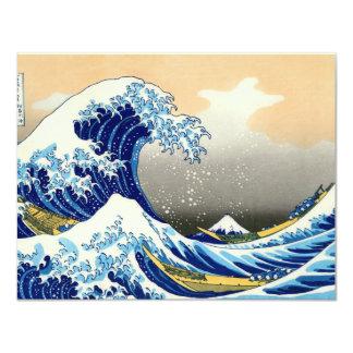 A grande onda convite 10.79 x 13.97cm