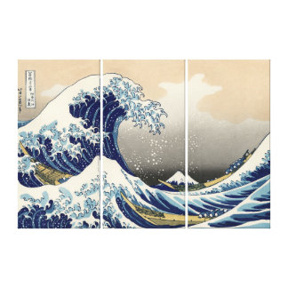 A grande onda da arte das canvas de Kanagawa