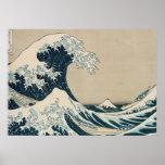 A grande onda de Kanagawa Pôsteres