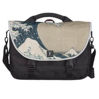 A grande onda de Kanagawa, vistas de Monte Fuji Pasta Para Notebooks