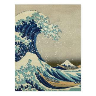 A grande onda fora de Kanagawa Cartoes Postais