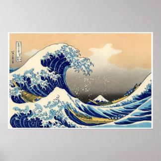A grande onda fora de Kanagawa, poster