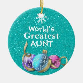 A grande tia enfeites de natal do mundo