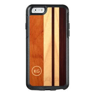 A grão de madeira moderna listra o logotipo feito