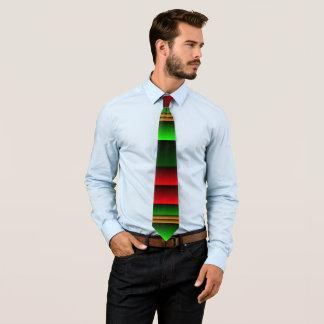 A gravata de homens de cores do Natal