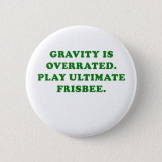 A gravidade é Frisbee final avaliado em excesso do Bóton Redondo 5.08cm
