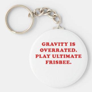 A gravidade é Frisbee final avaliado em excesso do Chaveiro