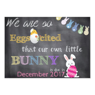 A gravidez da páscoa de Eggscited revela o anúncio