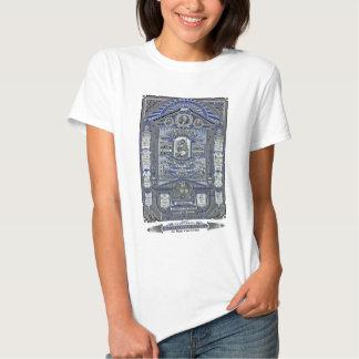 A gravura do vintage da Oração do senhor Camiseta