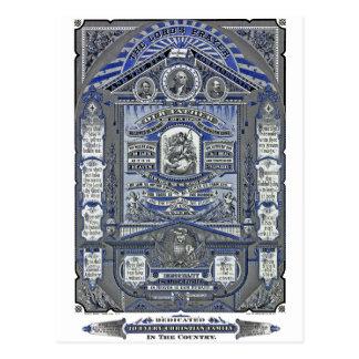 A gravura do vintage da Oração do senhor Cartões Postais