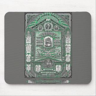 A gravura do vintage da Oração do senhor (verde) Mouse Pad