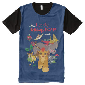A guarda do leão | deixou o rugido dos feriados camiseta com impressão frontal completa