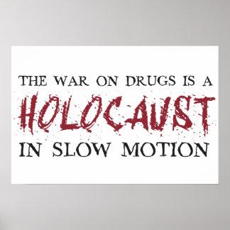 A guerra em drogas é um holocausto no movimento le pôster
