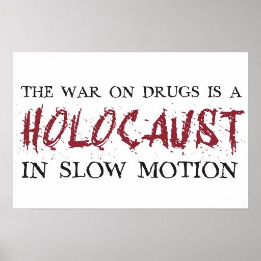 A guerra em drogas é um holocausto no movimento le impressão