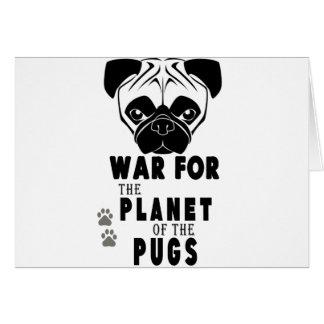 a guerra para o planeta dos pugs refrigera o cão cartão