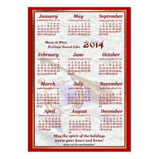 A guitarra 2014 e a harpa deixaram o calendário do modelo cartao de visita