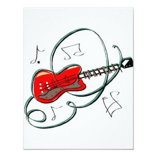 a guitarra abstrata nota a música red.png convites