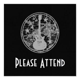 A guitarra afligida Stars a obscuridade BW da Convite