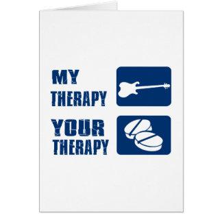 A GUITARRA ELÉTRICA é minha terapia Cartão