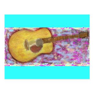 a guitarra twangs uma melodia acústica cartão postal