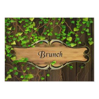 A hera cobriu a cerca & a refeição matinal de convite 12.7 x 17.78cm
