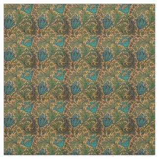 A herança floresce matérias têxteis tecido