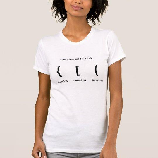 a historia em tres teclas camiseta