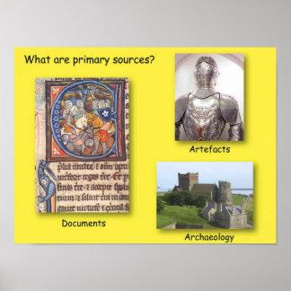 A história, o que é fontes primárias? poster