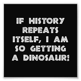 A história repete o dinossauro impressão de foto