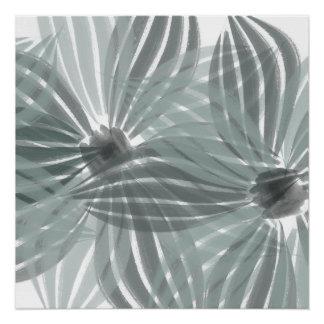 A hortelã abstrata floresce o poster da aguarela pôster