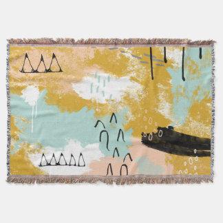 A hortelã abstrata tribal da arte da paisagem cora lençol
