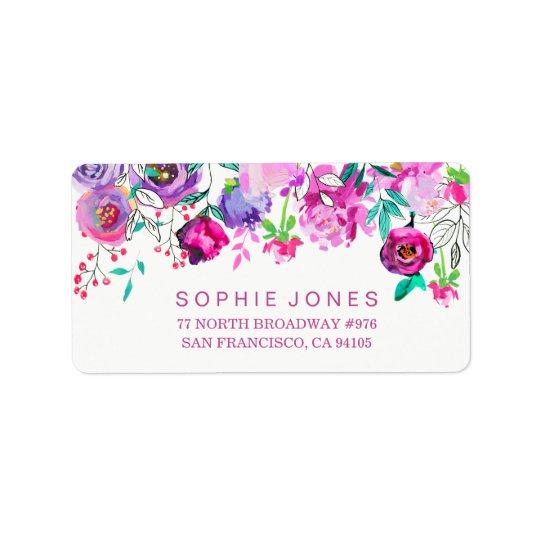 A hortelã cor-de-rosa floresce etiquetas de