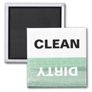 A hortelã e brancos limpam/máquinas de lavar louça ímã quadrado