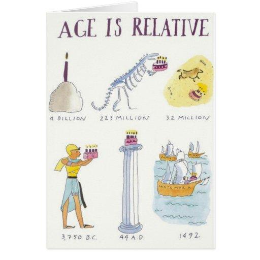 A idade é relativa cartoes