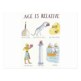 A idade é relativa cartão postal