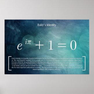 A identidade de Euler - poster da matemática