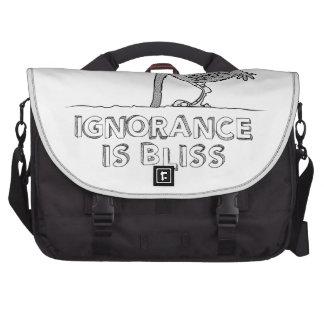 A ignorância é felicidade bolsa para laptops