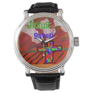 A igreja cura Jesus da esperança salvar o relógio