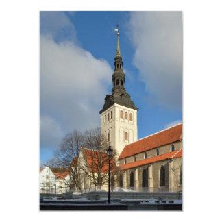 A igreja de São Nicolau, Tallinn, Estónia Convites Personalizados