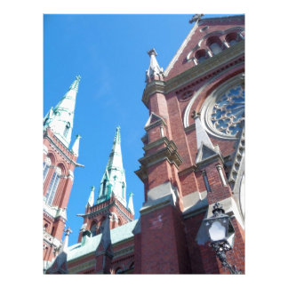 A igreja de St John em Helsínquia Papel De Carta