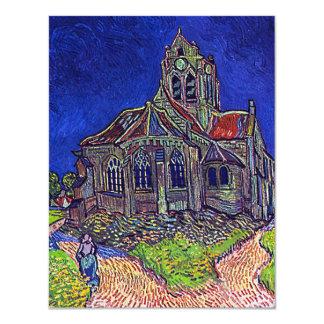 A igreja de Vincent van Gogh 'de Auvers Convite 10.79 X 13.97cm