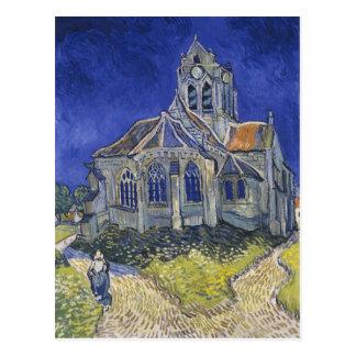 A igreja em Auvers por Vincent van Gogh Cartão Postal
