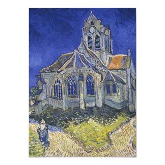 A igreja em Auvers por Vincent van Gogh Convite 11.30 X 15.87cm