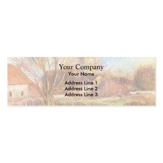 A igreja em Essoyes por Pierre-Auguste Renoir Cartão De Visita Skinny