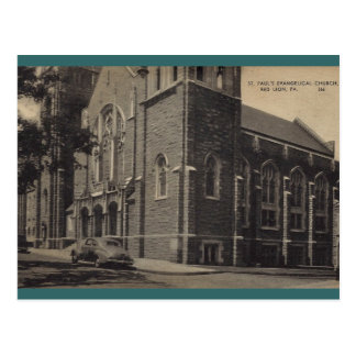 A igreja evangélica de St Paul, leão vermelho Cartão Postal