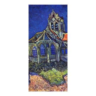 A igreja no Auvers-sur-Oise, por Vincent Van 10.16 X 22.86cm Panfleto