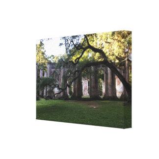 A igreja velha de Sheldon arruina canvas esticadas